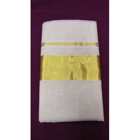 3 INCH PLAIN TISSUE SAREE